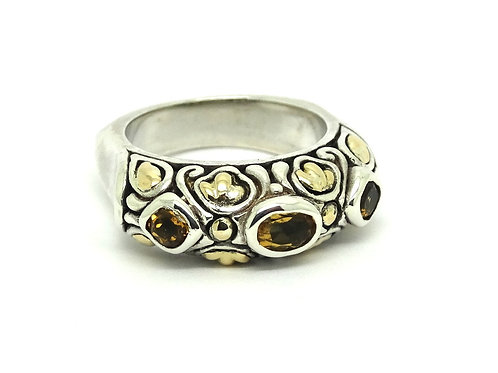 SAMUEL BENHAM Citrine 18k Gold & Silver BJC Ring
