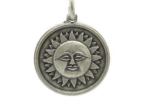 Italian SUN, MOON & STARS 925 Silver Charm Pendant