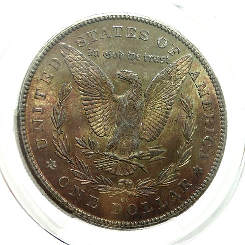 1878 CC Morgan $1 -RAINBOW TONED- PCGS MS63 Carson City Silver Dollar