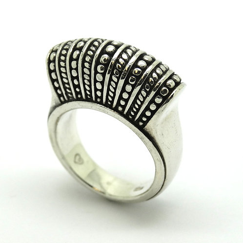 Fashion BRIGHTON SAYAN Sterling Silver DOMED STATEMENT Ring