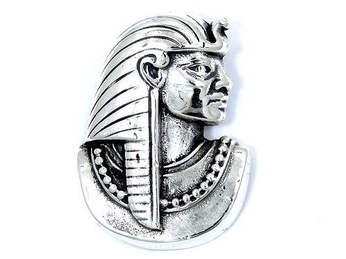 RARE Vintage KALI Egyptian Revival Pharaoh Warrior Sterling Silver Pendant