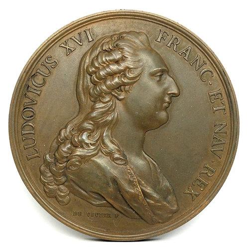 "1781 LOUIS XVI France MARIE ANTOINETTE Austria Du VIVIER 3"" Bronze Medal"