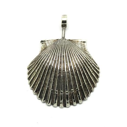 Israeli Modernist ZVI Sterling Silver Clam Shell Pendant