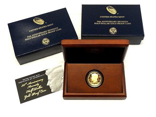 2014-W 3/4 oz Proof Gold Kennedy Half Dollar