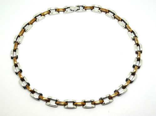 MEXICAN Maker MT-04 925 Silver & Laton Necklace
