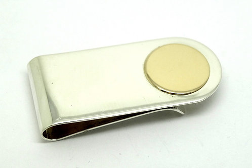 Mid-Century DOSKOW 925 Silver 14k Gold Money Clip