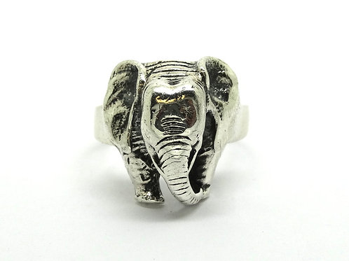 Incredible Hand-Made ELEPHANT Sterling Silver Ring