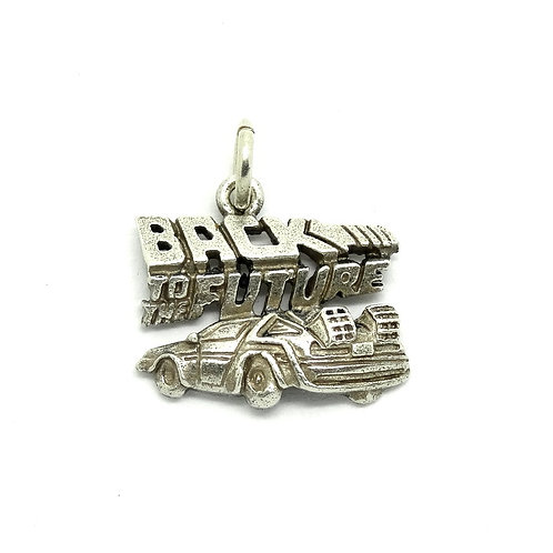 BACK TO THE FUTURE Sterling Silver Fan Charm