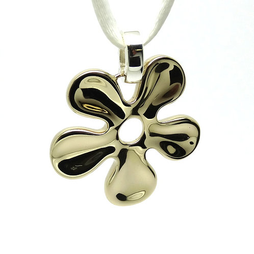 RLM Studio BRASS & SILVER Flower Enhancer Pendant