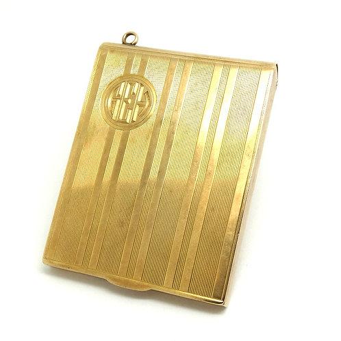 ART DECO Antique BATTIN 14k Gold Beverly Hills Match Book Safe Case Box Pendant