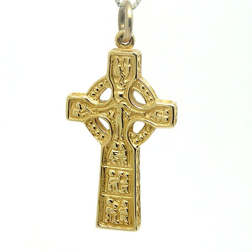 Celtic Designs 14k Gold IRISH HIGH CROSS Pendant