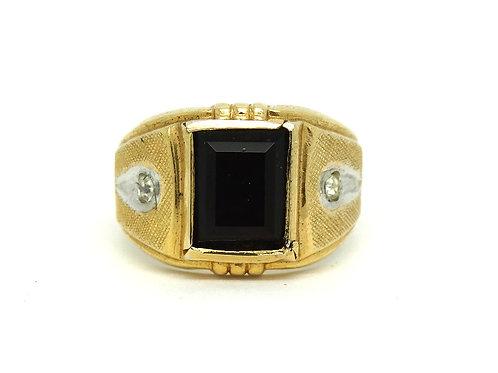 Old Fashioned Men's Garnet G.F. ESPO Ring