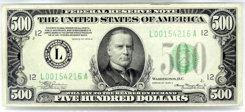 Pmg Xf 40 1934 A Mckinley 500 Dollar Bill San Francisco