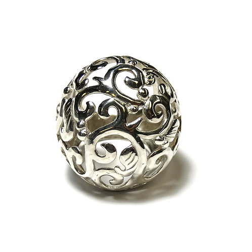 GAUDY Filigree Ivy Leaf Sterling Silver Ring s.6