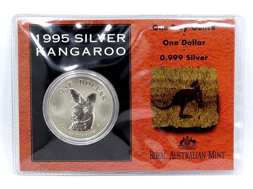 Scarce 1995 Australia KANGAROO 1 oz 999 Silver Coin -Only 2,500 Mintage!