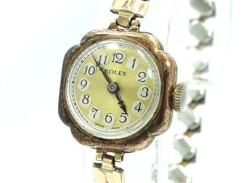 Antique 1930's ROLEX PRIMA 9C Rose Gold 15 Jewel Hand-Winding Watch Ref: 31253