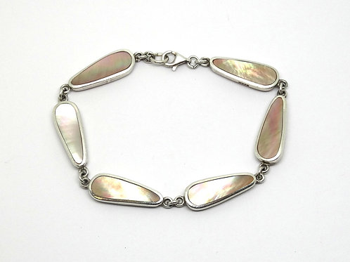 Sweet Mother of Pearl Sterling Silver Bracelet