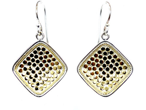 ANNA BECK Gili GOLD DOT Concave Diamond Dangle Drop 925 Sterling Silver Earrings