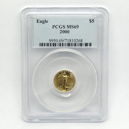 PCGS MS69 2000 $5 1/10 OZ Gold American Eagle