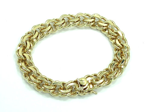 Vintage TIFFANY & CO 14K Yellow Gold for Charms HEAVY 50 gr Double Link Bracelet
