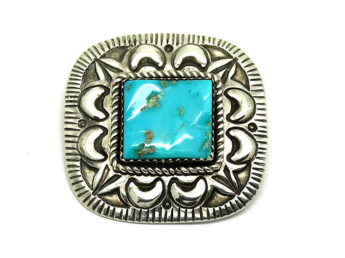 A. SECATERO Navajo Sterling Silver Turqouise Pin