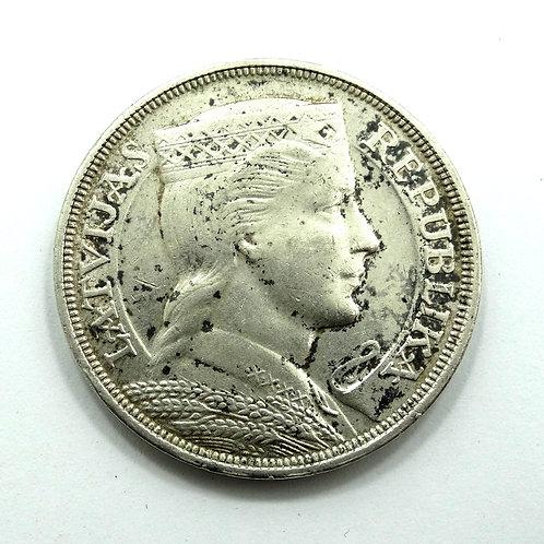 1931 LATVIA 835 Silver PIECI 5 LATI Coin Latvijas Republika