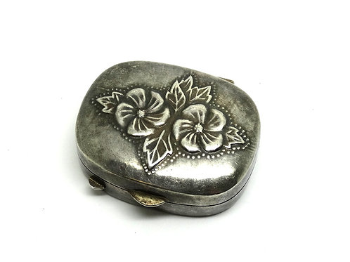 Sweet Jane Floral Sterling Silver MERVYNS Pill Box