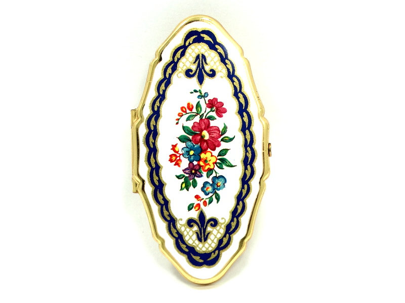 Cute STRATTON Compact Made in England Lipstick Holder with Mirror