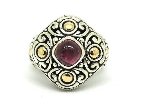 SAMUEL BENHAM Pink Tourmaline 14k Gold Silver Ring