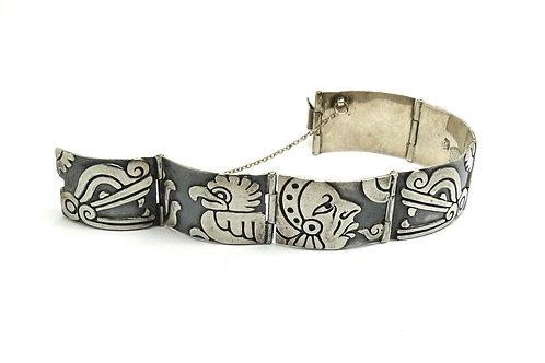 GERARDO LOPEZ Story Panel Sterling Silver Bracelet