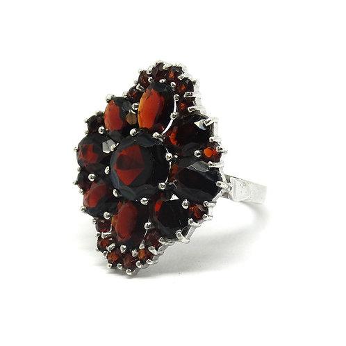 Vintage Pomegranate GARNET Sterling Silver Ring s6