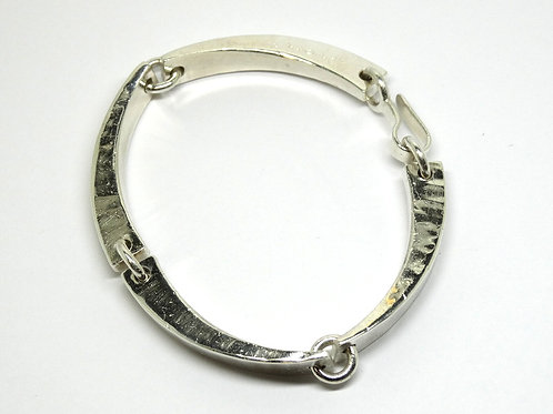 Modernist KERSTIN OHLIN LEJONKLOU Sweden Sterling Silver Bar Link Bracelet