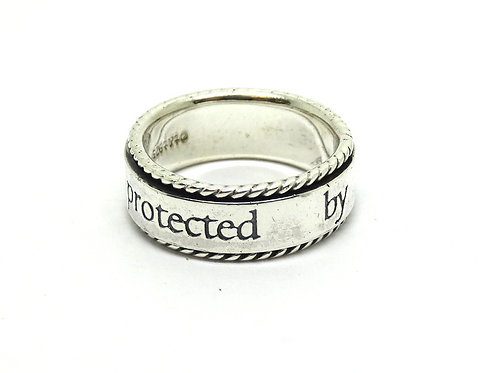 Sterling Silver T&T Spinner Angel Band Ring s.7