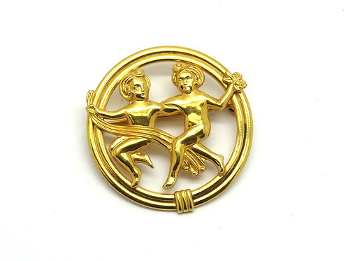 GEMINI Zodiac VAN DELL 1/20 12k Gold Filled Pin