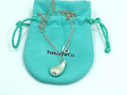 "Tiffany & Co LARGE TEARDROP Elsa Peretti Pendant 24"" Necklace"