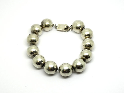 Sterling Silver Mexico TC-48 Beaded Bracelet