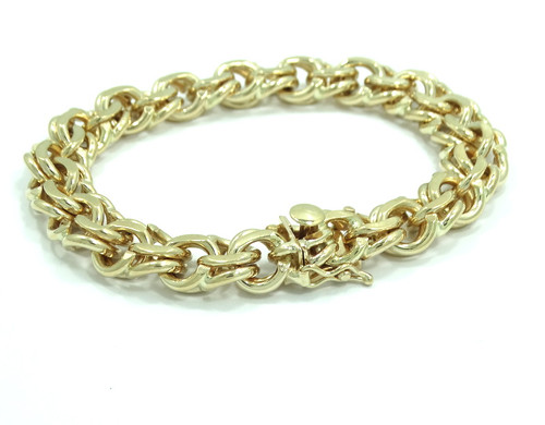 1338c7169a3e7 Vintage TIFFANY & CO 14K Yellow Gold for Charms HEAVY Double Link Bracelet  50 gr