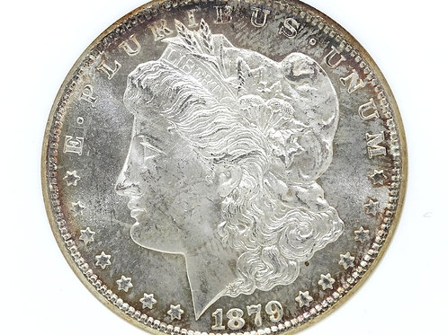 1879 S NGC MS64 Morgan $1 -GREAT TONING- San Francisco Silver Dollar Coin