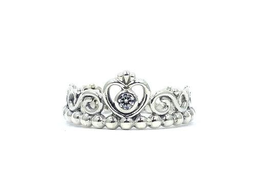 PANDORA ALE 925 Sterling Silver PRINCESS TIARA Crown Ring