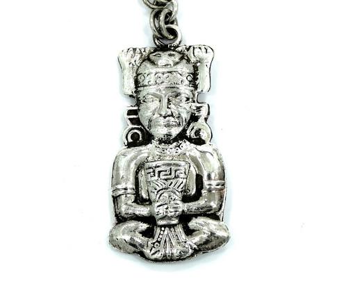 Vintage aztec peruvian viracocha inca mayan 925 sterling silver vintage aztec peruvian viracocha inca mayan 925 sterling silver keychain pendant aloadofball Image collections