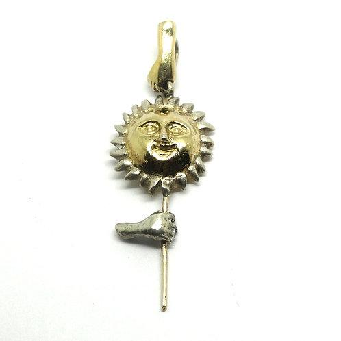 Vintage RUBEN AYALA 925 GA51 Mexico 925 Silver SUN FACE Pendant