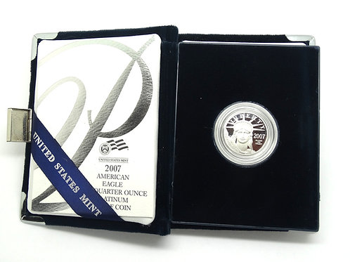 2007 P$25 American Eagle 1/4 OZ 9995 Platinum