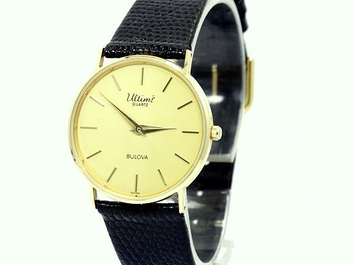 Ultra Slim Men's 1950's Vintage ULTIME' BULOVA P6 14K Gold Quartz Watch