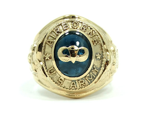 Vintage WWII U.S. ARMY AIRBORNE Paratrooper Master PARACHUTIST 10K Gold Ring