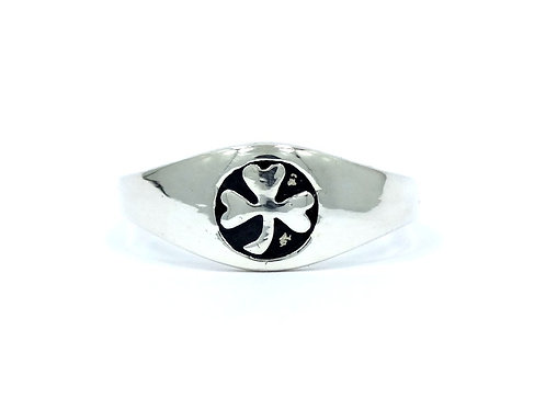 LUCK O' THE IRISH St Patty Shamrock 3-LEAF CLOVER 925 Sterling Silver Ring