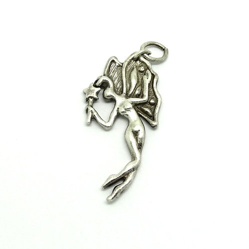 Vintage UMA Sterling Silver Fairy Pixie Pendant