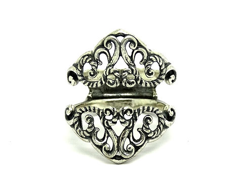 Gorgeous Navajo CAROLYN POLLACK Sterling Silver Filigree Tiara Ring Jacket