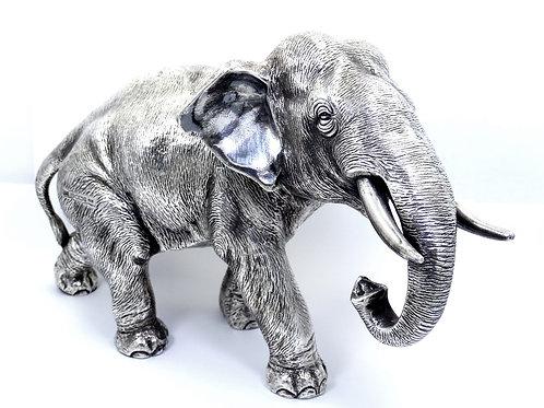 "1980's CHANTRY Silversmiths 925 Silver Filled 9"" ELEPHANT Statue Figure Model"