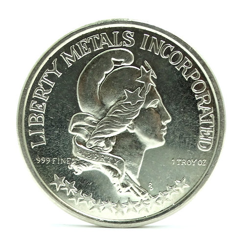 1974 PROVO UTAH -LIBERTY METALS INC 999 1 OZ Fine Silver Eagle Coin Medallion