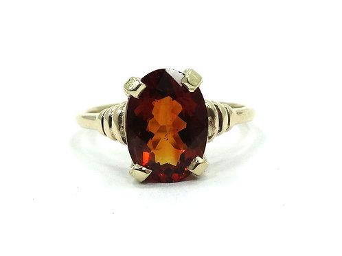Art Deco Antique TIFFANY & CO 14k Gold Orange SPESSERTITE GARNET Ring